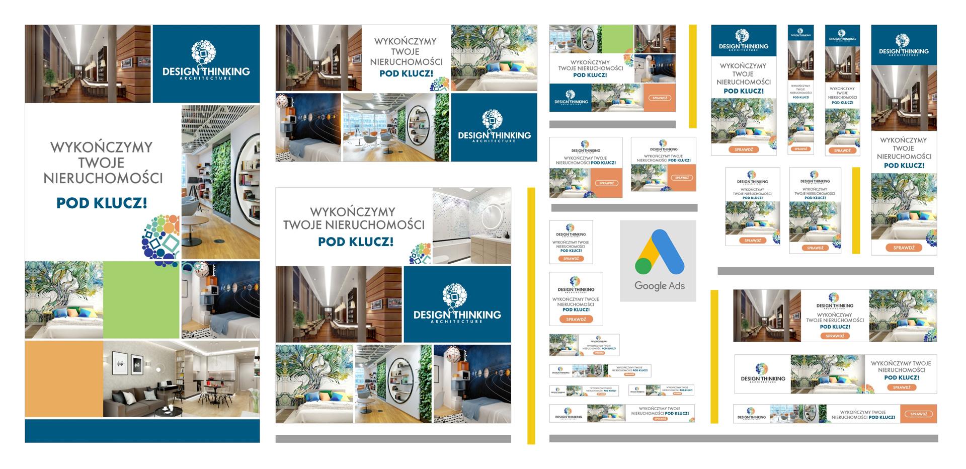 Kreacje reklamowe do kampanii promującej I Design Thinking