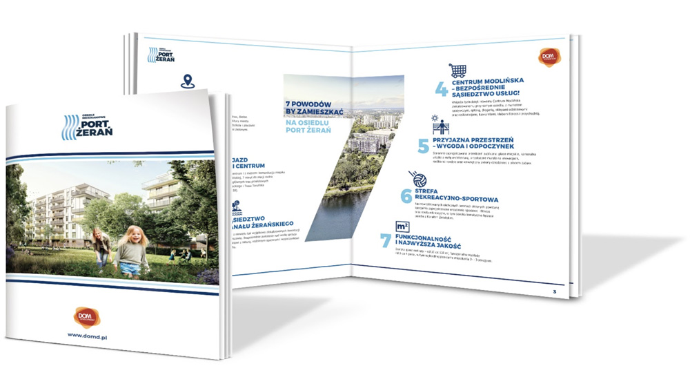 Ulotka dla osiedla Port Żerań, Dom Development
