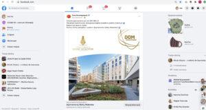 Reklama w mediach społecznościowych inwestycji Dom Development Apartamenty Dolny Mokotów