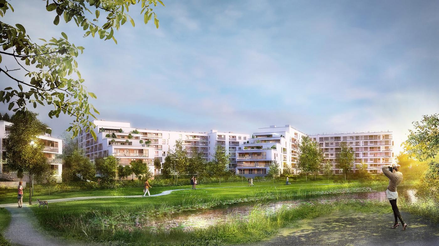 Wizualizacja osiedla Apartamenty Saska nad Jeziorem, Dom Development