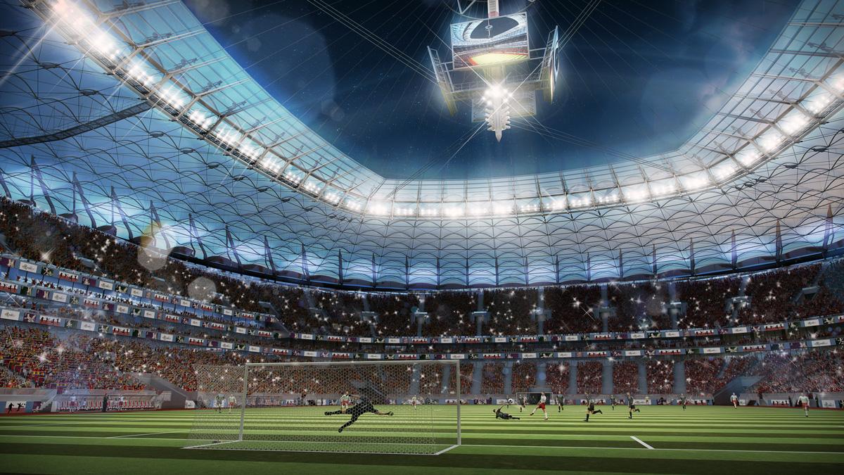 Wizualizacja stadionu PGE Narodowy