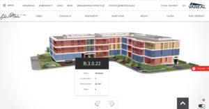 Wyszukiwarka 3D dla inwestycji Yareal Polska - Apartamenty Dolina Mokotów