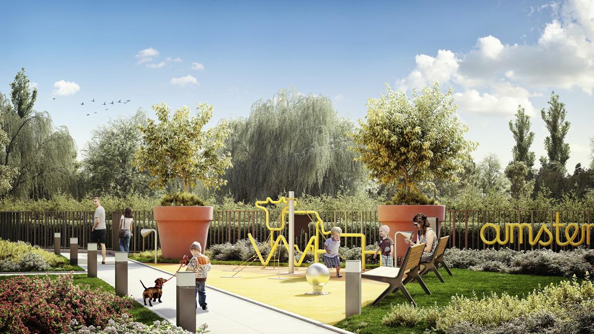 Architektura mała dla Osiedla Amsterdam, Dom Development - projekt