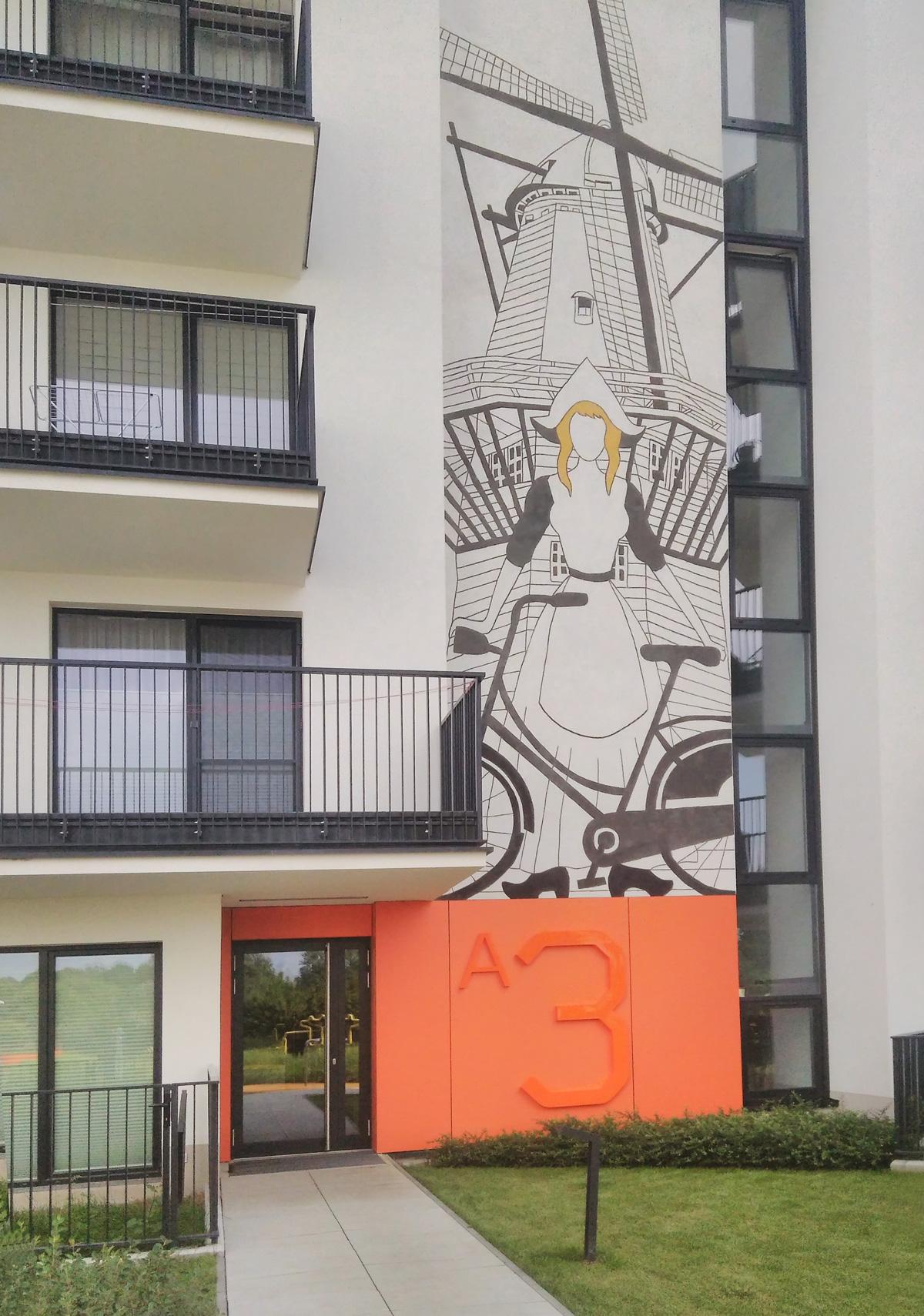 Elewacja budynku, Osiedle Amsterdam, Dom Development