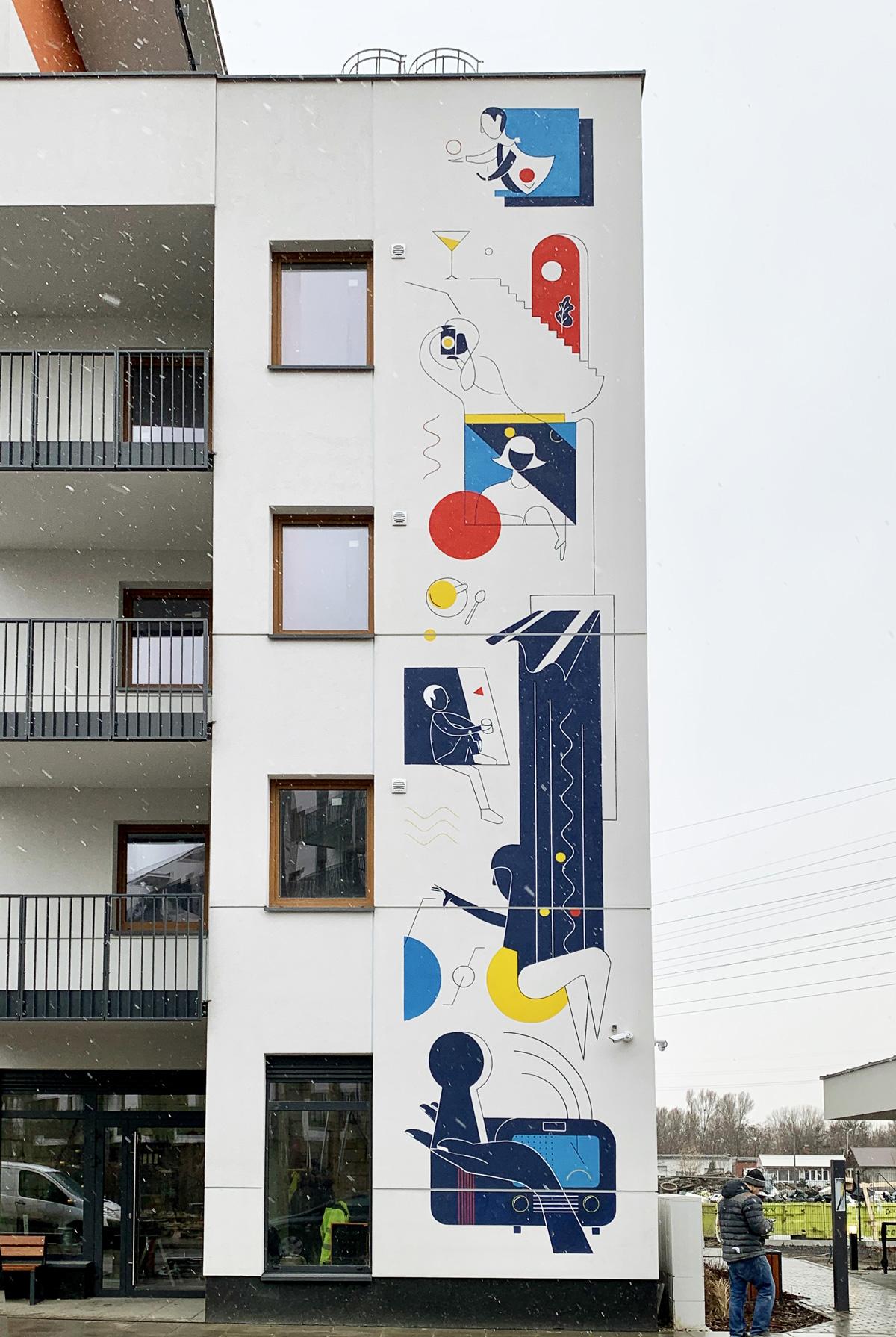 Elewacja budynku, Osiedle Stacja Grochów, Dom Development