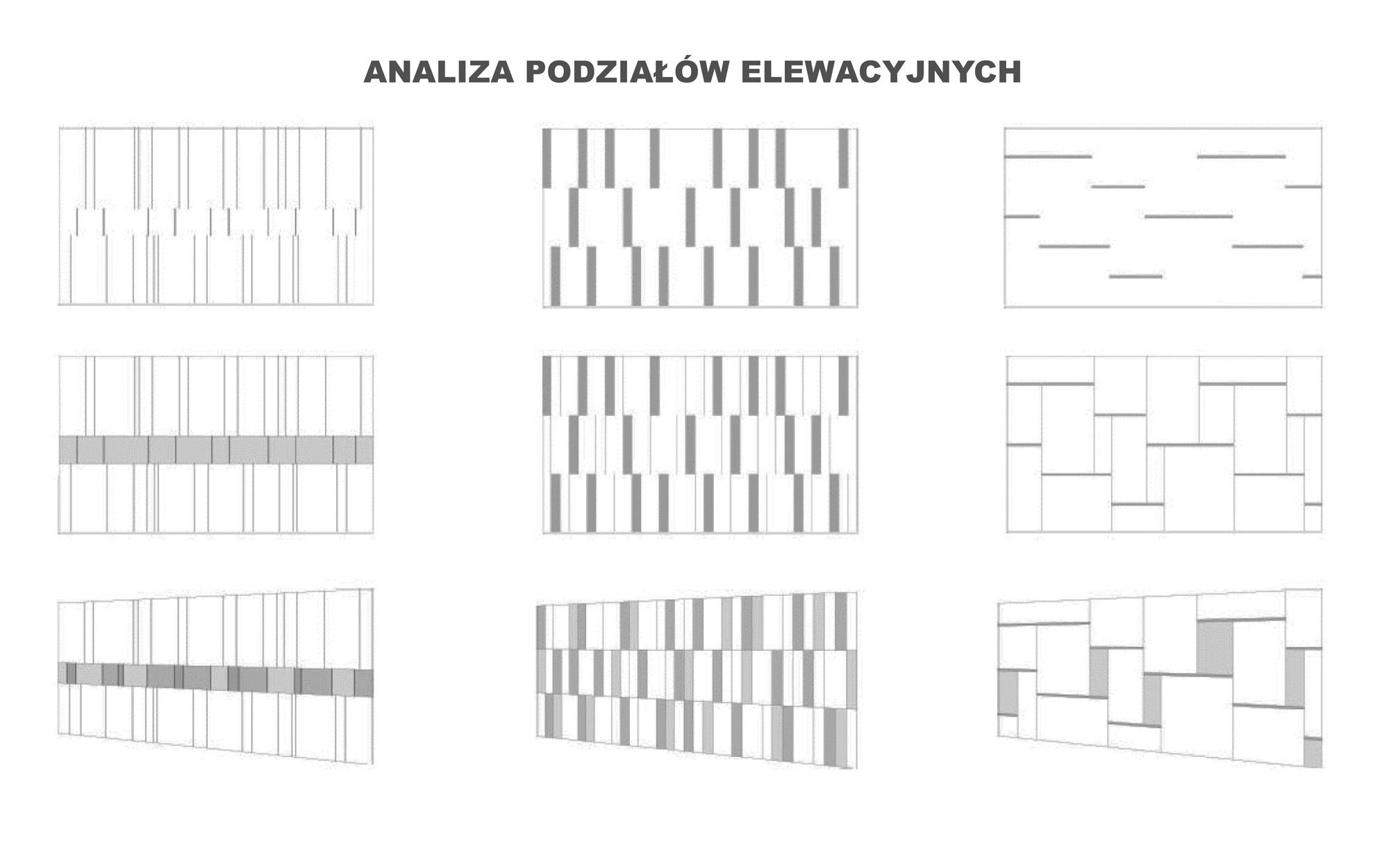 Analiza podziałów elewacyjnych