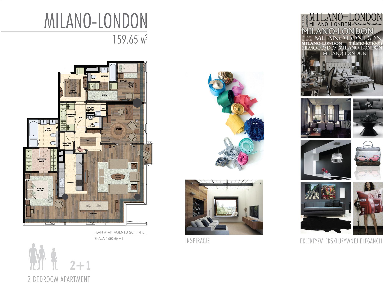 Projekt apartamentu w stylu Milano - London