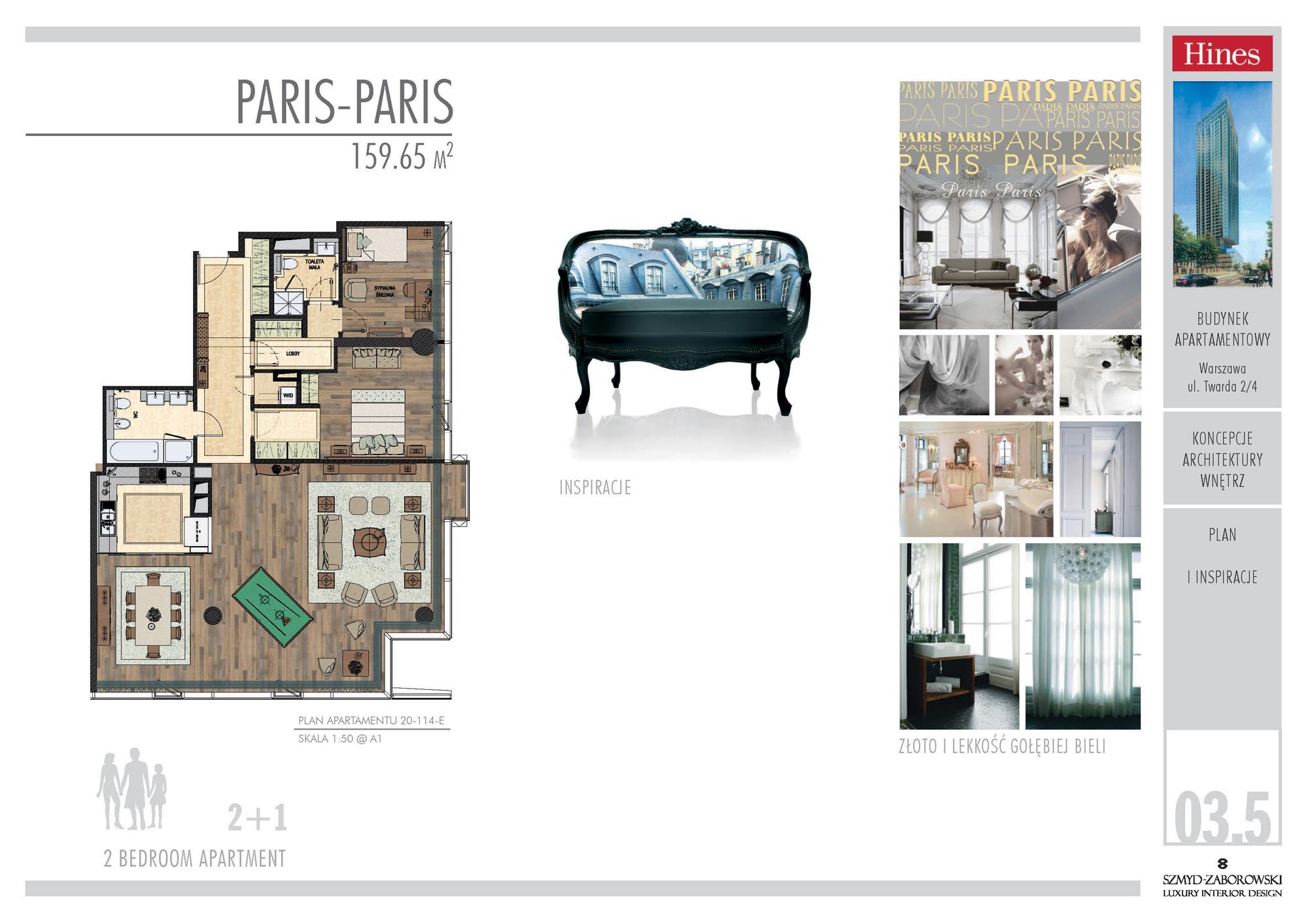 Projekt apartamentu w stylu Paris - Paris